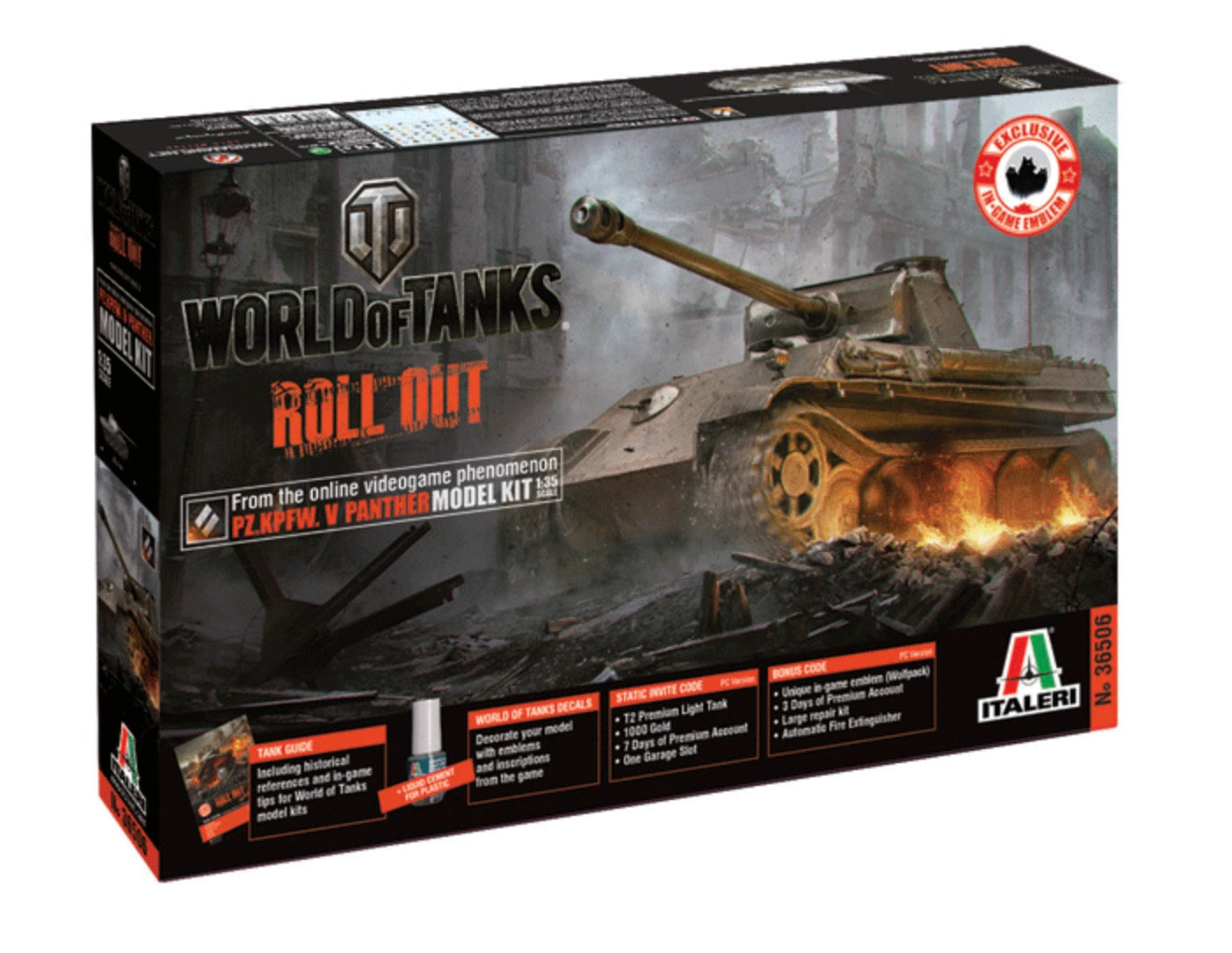 Italeri 1/35 World Of Tanks Roll Out PZ KPFW  V Panther 36506