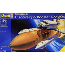 Load image into Gallery viewer, Revell 1/144 Space Shuttle Orbiter Discovery With Tank And Booster Rockets 04736