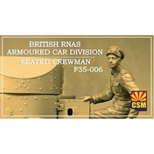 Copperstate Models 1/35 British RNAS Armored Car Seated Crewman F35-006