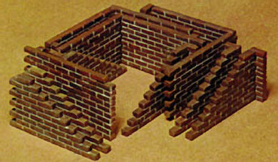 Tamiya 1/35 Brick Wall Set 35028
