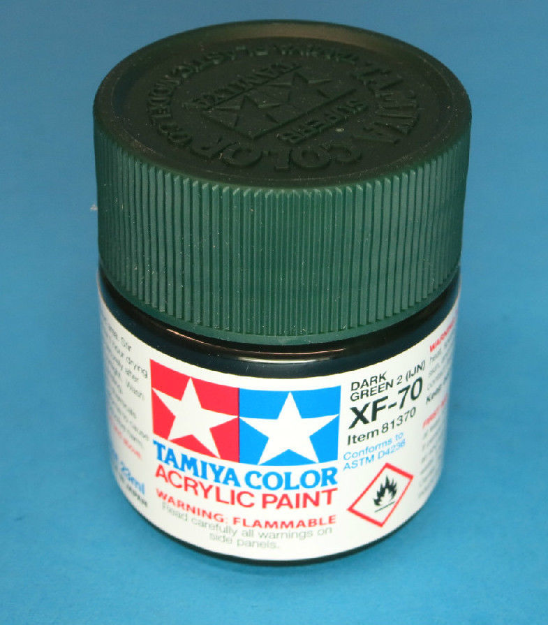 Tamiya Acrylic 23ml 81370  XF-70 Dark Green