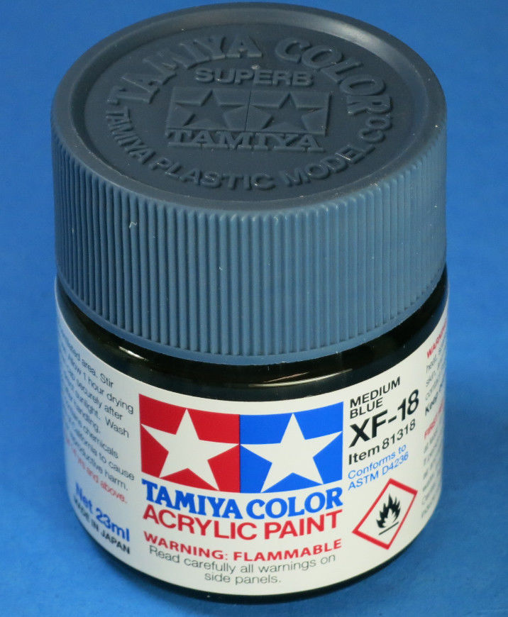 Tamiya Acrylic 23ml 81318 XF-18 Medium Blue
