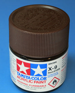 Tamiya Acrylic 23ml 81009 X-9 Gloss Brown