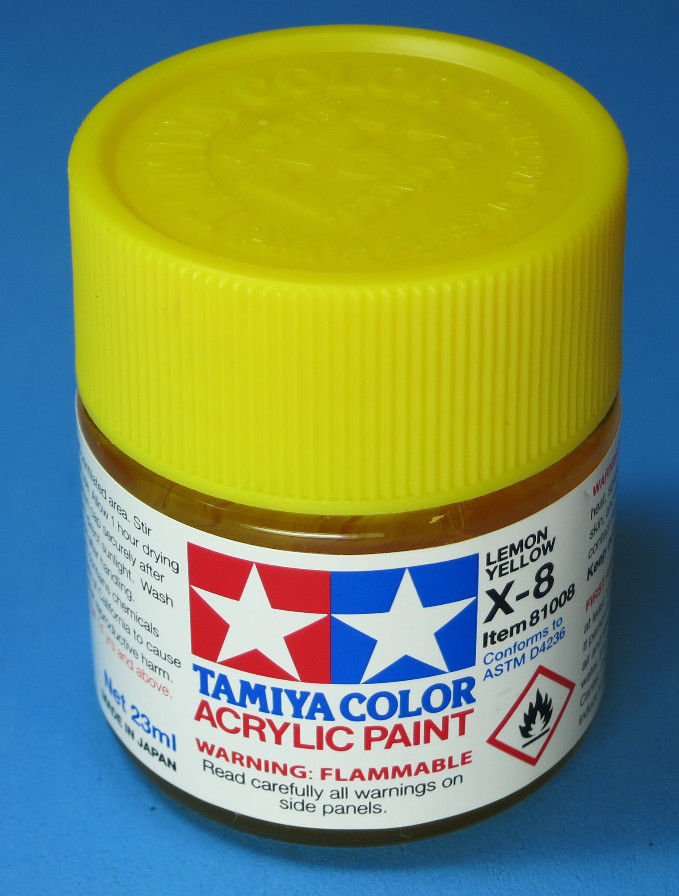 Tamiya Acrylic 23ml 81008 X-8 Gloss Lemon Yellow