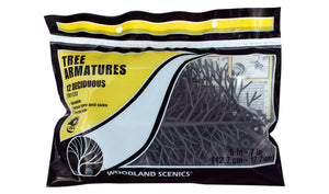 Woodland Scenics TR1123 Tree Armatures 5 in - 7 in (12)
