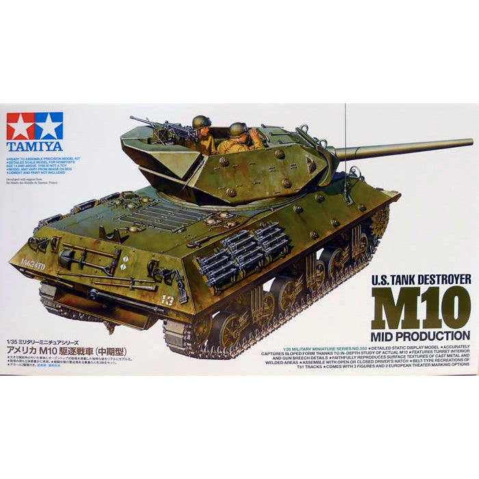 Tamiya 1/35 US Tank Destroyer M10 Mid Production 35350