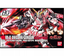 Load image into Gallery viewer, Bandai 1/144 HG #100 Unicorn Gundam (Destroy Mode) Full Psycho Frame 5057399