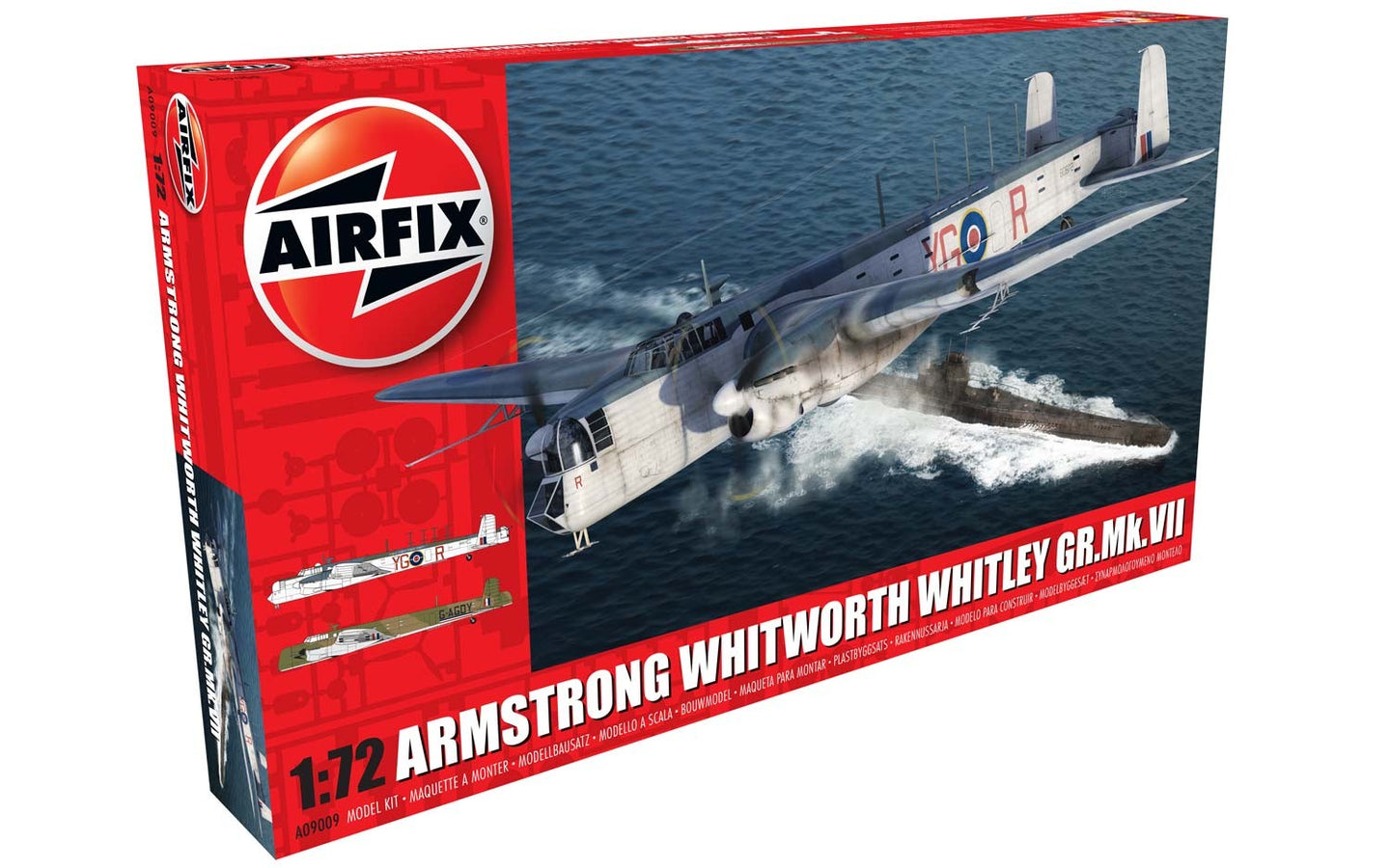 Airfix 1/72 British Armstrong Whitworth Whitley Gr.Mk.VII A09009