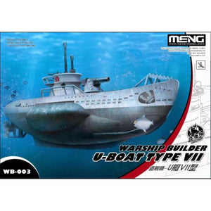 Meng Warship Builder #3 Snaptite German U-Boat Type VII WB-003