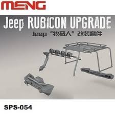 Meng 1/24 Jeep Wrangler Rubicon Exterior Accessories Kit SPS-054