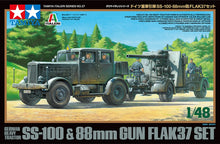 Load image into Gallery viewer, Tamiya 1/48 German Heavy Tractor SS-100 & 88mm Gun Flak 37 Set 37027