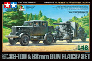 Tamiya 1/48 German Heavy Tractor SS-100 & 88mm Gun Flak 37 Set 37027