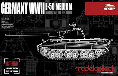Modelcollect 1/72 German E-50 Medium Tank with 88 Gun MA72002