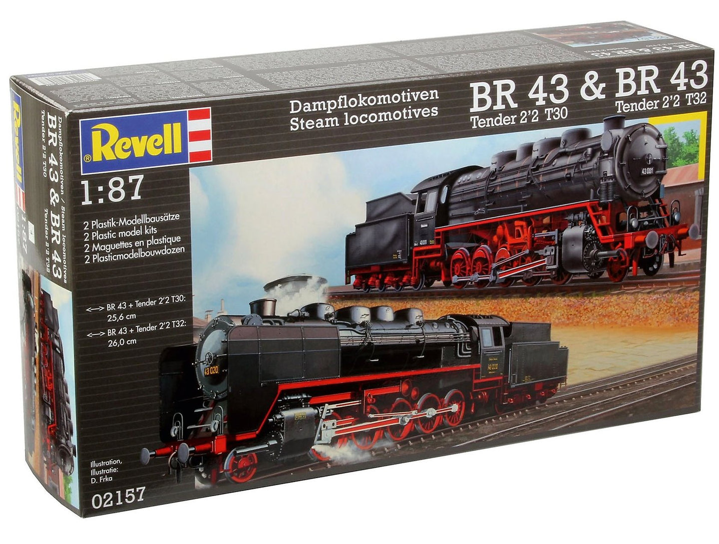 Revell Germany 1/87 Steam Locomotives BR 43 Tender 2'2 T30/T32 2 Kits 02157