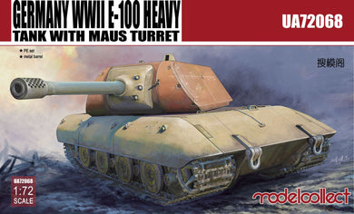 Modelcollect 1/72 German E-100 Heavy Tank with Mouse turret UA72068