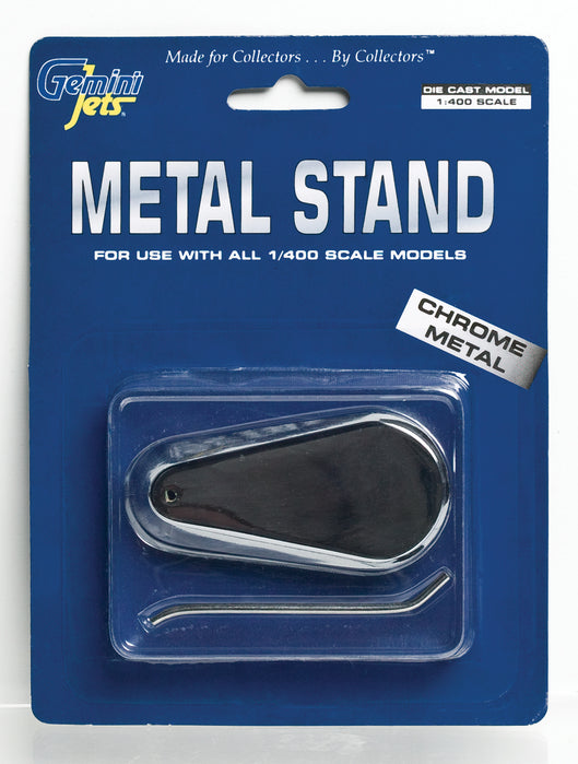 Gemini 1/400 Chrome Metal Stand GJSTD777