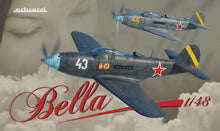 "Load image into Gallery viewer, Eduard 1/48 US P-39 ""Bella"" Airacobra in Red Army Service Dual Combo 11118"