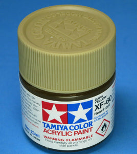 Tamiya Acrylic 23ml 81360 XF-60 Dark Yellow