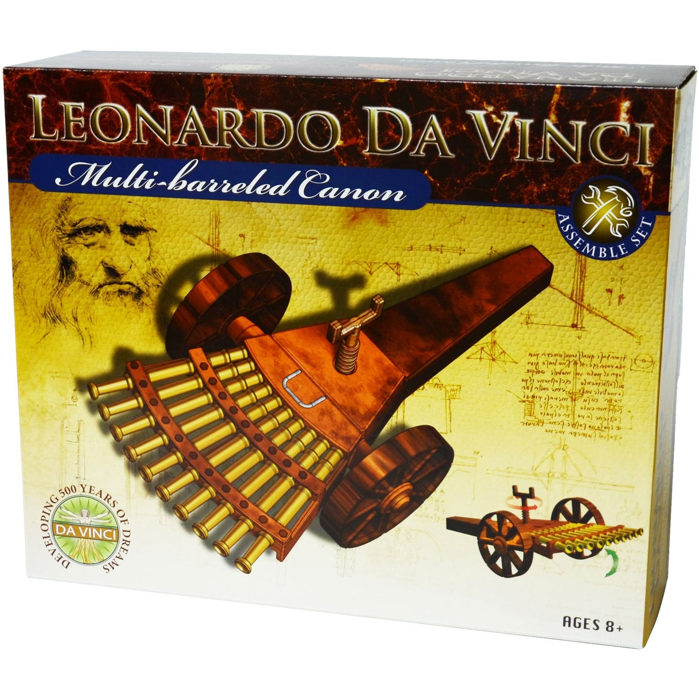Edu-Toys Leonardo Da Vinci Multi-Barreled Cannon Science Kit 61005C