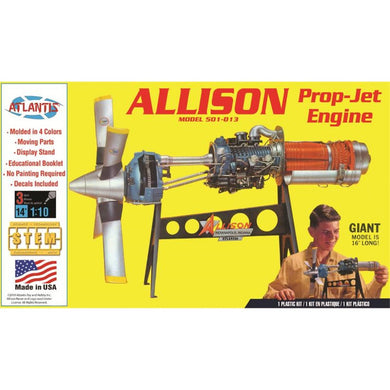 Atlantis 1/10 Allison Model 501-D13 Prop-Jet Engine Plastic Kit H1551