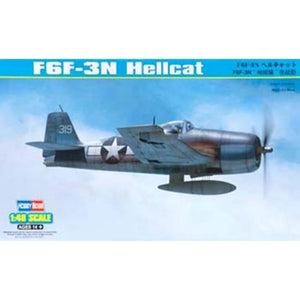 Hobby Boss 1/48 US Navy F6F-3N Hellcat Fighter 80340