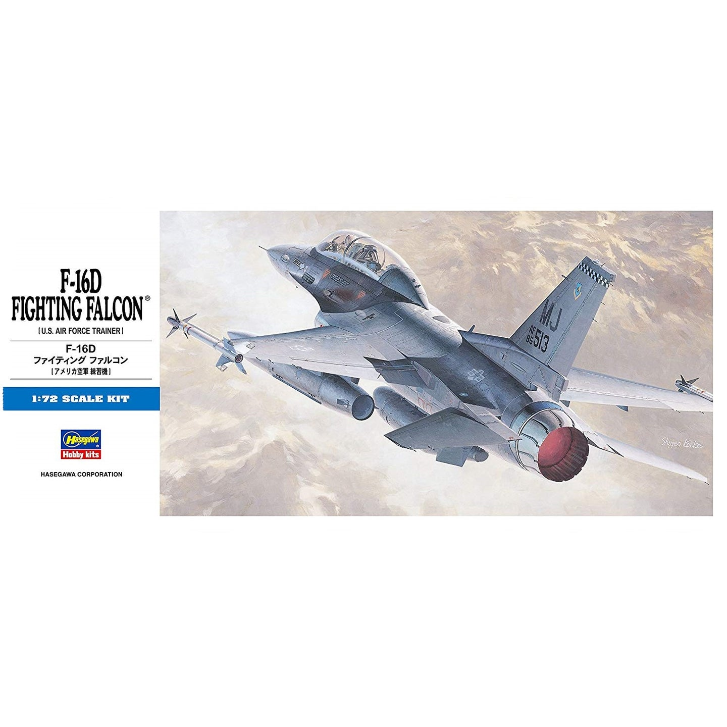 Hasegawa 1/72 US Air Force F-16D Fighting Falcon Trainer 00445