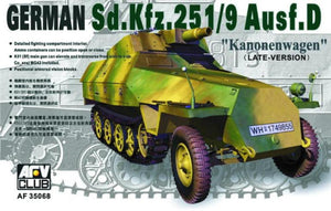 AFV Club 1/35 German Sd.Kfz.251/9 Ausf.D Kanonenwagen Late Version 35068