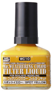 Mr. Hobby Mr Weathering Color Filter Liquid Spot Yellow WC10