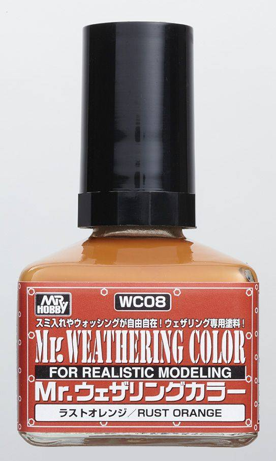 Mr. Hobby Mr Weathering Color Filter Liquid Rust Orange WC08