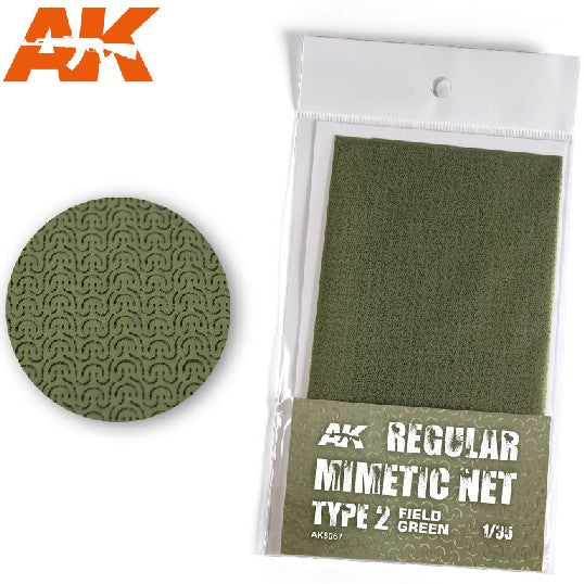 AK Interactive AK8067 Regular Mimetic Net Type 2 Field Green