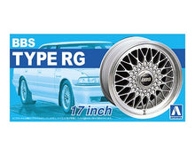 "Load image into Gallery viewer, Aoshima 1/24 Rim & Tire Set ( 01)  BBS Type RG 17"" 05240"