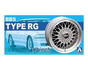 "Aoshima 1/24 Rim & Tire Set ( 01)  BBS Type RG 17"" 05240"