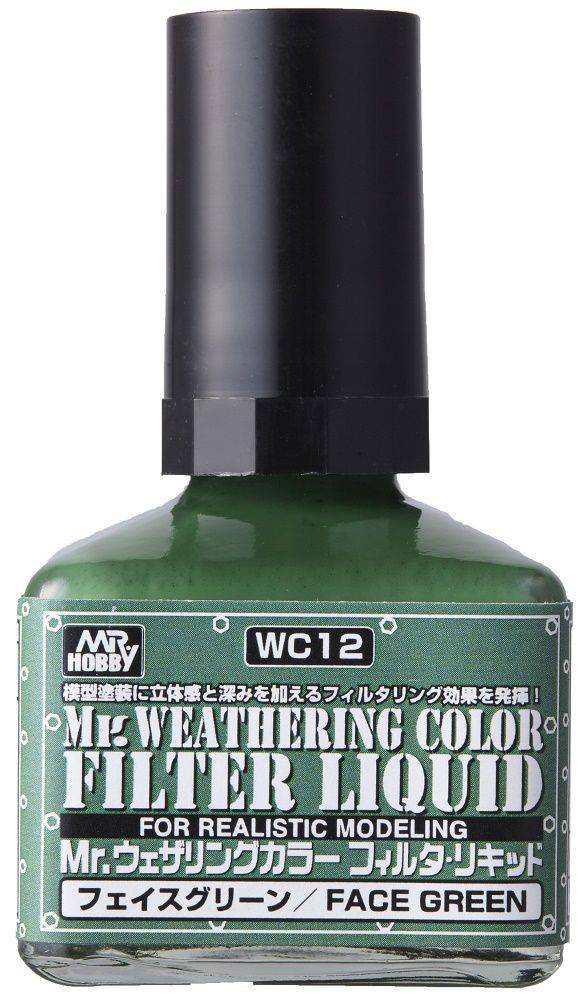 Mr. Hobby Mr Weathering Color Filter Liquid Face Green WC12