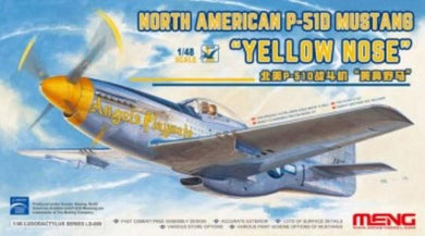 Meng 1/48 US North American P-51D Mustang Yellow Nose LS-009