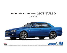 Load image into Gallery viewer, Aoshima 1/24 Nissan Skyline ER34 25GT Turbo 2001 05533