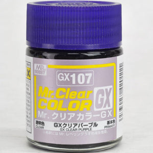 Mr. Hobby Mr. Clear Color Lacquer GX107 GX Clear Purple 18ml