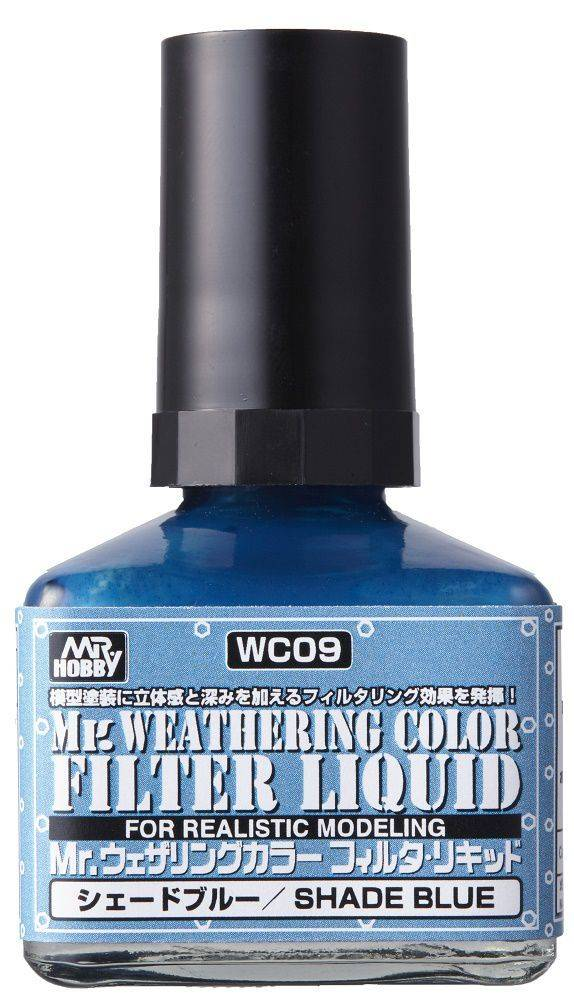 Mr. Hobby Mr Weathering Color Filter Liquid Shade Blue WC09