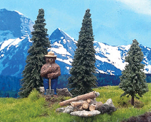 Grand Central Gems Smokey Bear With 3 Small Trees 295SMKY01