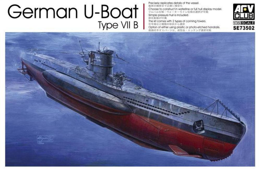 AFV Club 1/350 German U-Boat Type VII B 73502