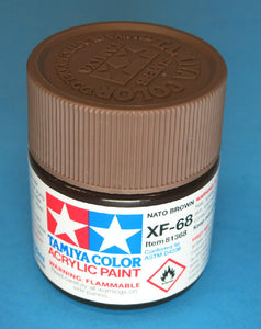 Tamiya Acrylic 23ml 81368  XF-68 Flat Nato Brown