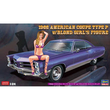 Load image into Gallery viewer, Hasegawa 1/24 1966 American Coupe Type P Pontiac Catalina W/ Blond Girl 52224