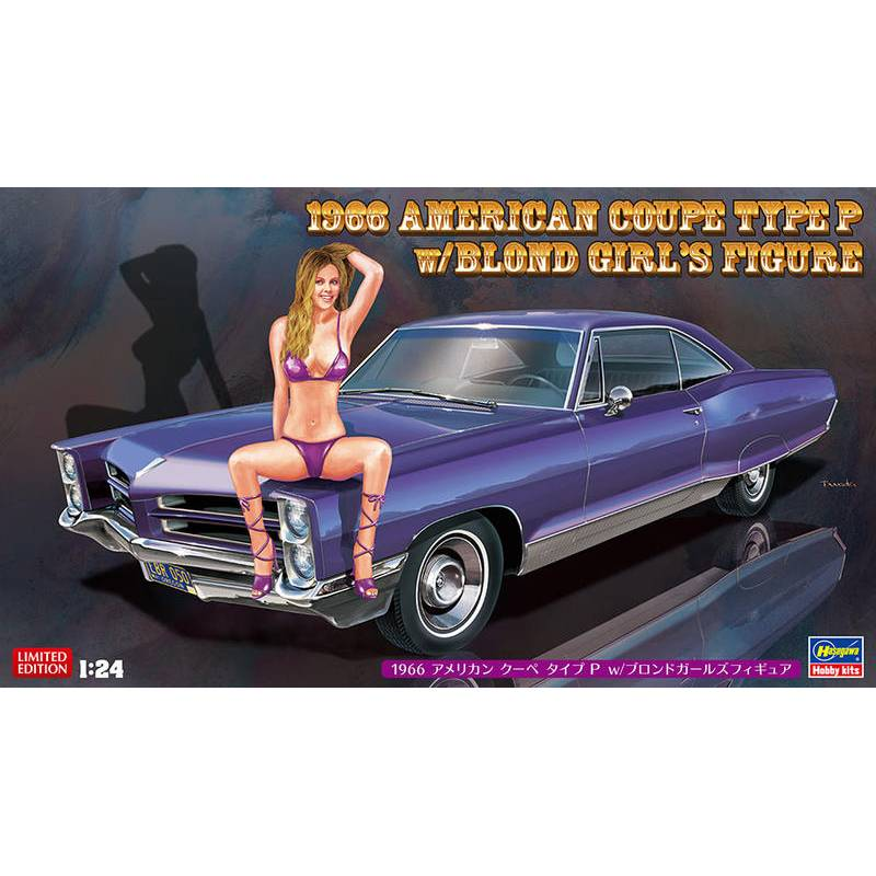 Hasegawa 1/24 1966 American Coupe Type P Pontiac Catalina W/ Blond Girl 52224