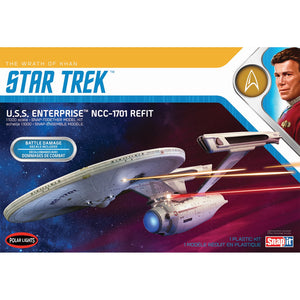 Polar Lights Star Trek 1/1000 USS Enterprise Wrath Of Khan SnapIt POL974