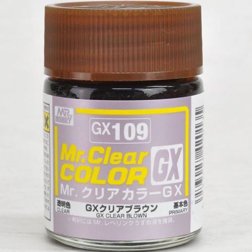 Mr. Hobby Mr. Clear Color Lacquer GX109 GX Clear Brown 18ml