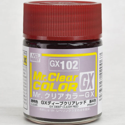 Mr. Hobby Mr. Clear Color Lacquer GX102 GX Deep Clear Red 18ml