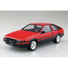 Load image into Gallery viewer, Aoshima 1/24 Toyota AE86 Sprinter Trueno Red / Black Painted Body 05315