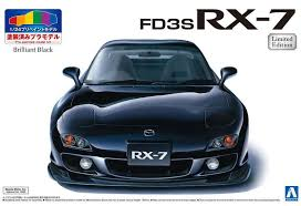 Aoshima 1/24 Mazda RX-7 FD3S w/ Fully Painted Black Body 05511