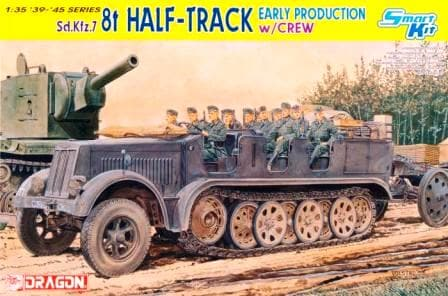 Dragon 1/35 German Sd.Kfz.7 8t Half-track Early w Crew 6545