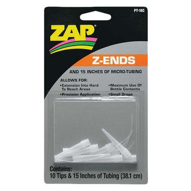 Pacer PT18 Z-Ends Extender Tips & Tubing for CA Glues (10)