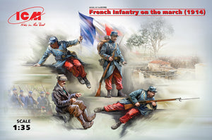 ICM 1/35 French Infantry on The March (1914) 35705